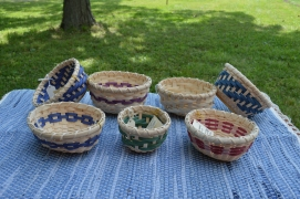 Small Candy Baskets with wooden bottoms
