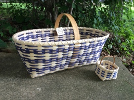 Handwoven Market Basket and Becca's Berry Basket