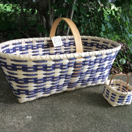 Handwoven Market Basket and Becca's Berry Basket