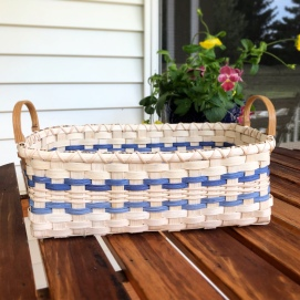 Handwoven Dinner Basket with side handles