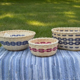 Fruit and Crabapple baskets with wooden bottoms